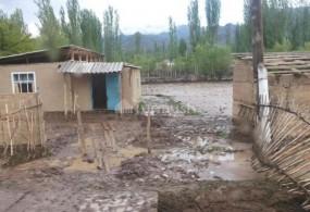 Жети-Өгүз районундагы сел 140 миң сом зыян алып келди