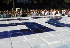 Бишкекте өлкөнүн тарыхындагы эң чоң торт жасалды