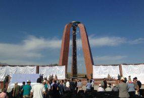 Бишкектин четинде Улуу Үркүндө шейит кеткендердин эстелиги ачылды