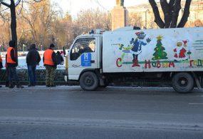 Бишкекте жаңы жылдык таштанды чогултуучу унаалар пайда болду