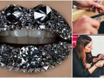 Самые «бриллиантовые» губы в мире попали в Книгу рекордов Гиннеса