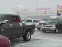 Мощный снежный шторм обрушился на Средний Запад США