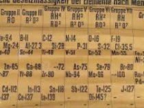 В Шотландии найден самый старый экземпляр таблицы Менделеева
