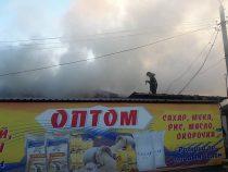 В селе Лебединовка сгорел склад одного из магазинов