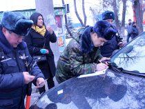 Свыше 90 протоколов было составлено в Бишкеке за нарушения правил тонировки авто