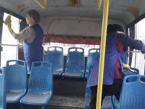 В Бишкеке автобусы и троллейбусы дезинфицируют перед выходом на линии