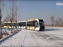 В Китае тестируют поезд с виртуальными рельсами