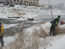 «Бишкекзеленхоз» продолжает очищать коллекторно-дренажные сети города