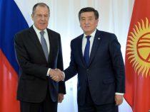 Глава МИД России Сергей Лавров прибыл в Кыргызстан