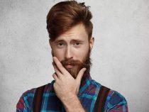 169 см, с бородой. Составлен образ мужчины на основе подарков к 23 Февраля