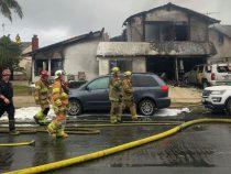 Число жертв падения самолета на дом в Калифорнии выросло до пяти