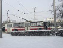 Ряд троллейбусов в столице временно остановили работу