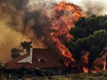 Сильные природные пожары вкурортных районах насевере Испании