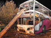 В Китае сгорел автобус с туристами. Есть погибшие