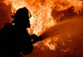 На западе Бишкека произошел крупный пожар