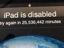 Отец дал 3-летнему сыну поиграть в iPad, а тот заблокировал его на 47 лет