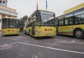В Бишкек доставлена первая партия автобусов на газе
