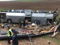 В Казахстане опрокинулся автобус — 11 погибших