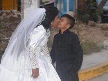 Сеть потрясли фото со свадьбы девушки и ребёнка, но это не то, чем кажется