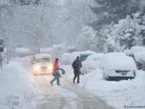 Центральную Европу накрыли снегопады