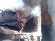 Назван предварительный ущерб от пожара на нефтебазе