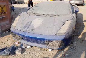Кладбище дорогих автомобилей в ОАЭ сняли на видео