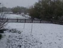 В селах Алайского района выпал снег
