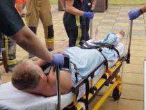 Вверх тормашками: пьяный британский офицер застрял в дымоходе