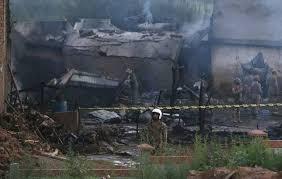 ВПакистане разбился военный самолет