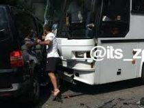 Кортеж президента Украины попал в ДТП с автобусами, в которых были дети