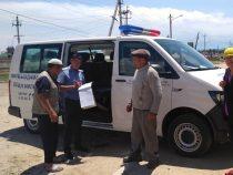В Иссык-Кульском районе работает передвижной пункт милиции