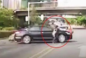 Мотоциклист, нарушивший правила дорожного движения, оказался очень везучим