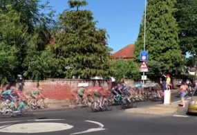 Невнимательные велосипедисты оконфузились во время гонки