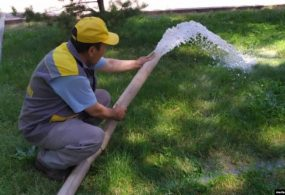 В Бишкеке экономят воду для полива