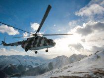 Вертолет с военными альпинистами вылетел в Кыргызстан