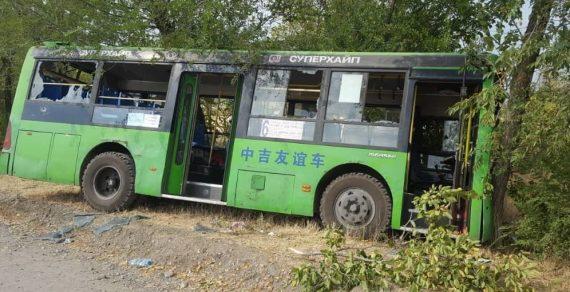 12 автобусов, пострадавших во время беспорядков в Бишкеке, восстановлены