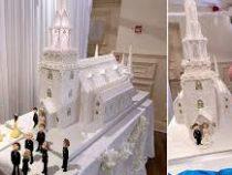 В Великобритании создали 44-килограммовый свадебный торт