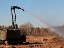 Пожар в Ачинске  будут тушить с помощью военных роботов