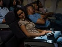 Летучая мышь напугала пассажиров в самолете