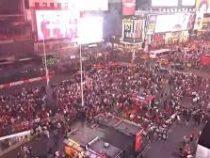 Звук мотоцикла вызвал панику на Таймс-Сквер