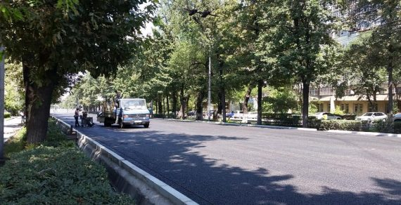 Улица Московская в Бишкеке открыта для движения транспорта