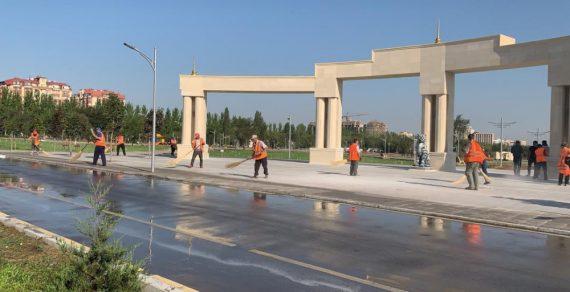 Строительство нового парка в Бишкеке завершено