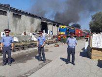 Пожар на складе бытовой техники в Бишкеке локализован