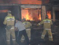 Пожар на западе Бишкека полностью потушили спустя сутки