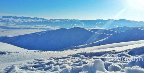 На джайлоо Кайынды Ак-Суйского района выпал снег высотой 30 см