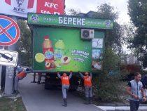 Демонтаж незаконных конструкций в Бишкеке продолжается