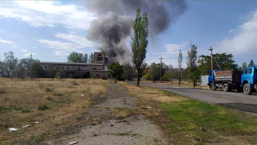 Пожар на стекольном заводе в Кара-Балте полностью потушен