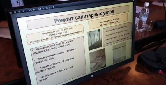 В 16 школах Бишкека провели ремонт санузлов