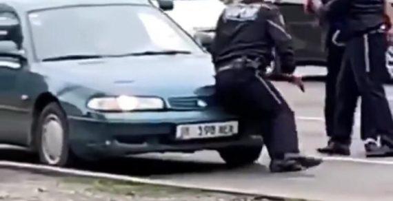 В Бишкеке задержан водитель, сбивший инспектора УОБДД