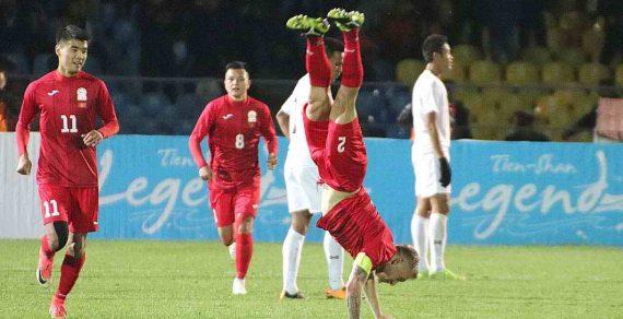 Cборная Кыргызстана пофутболу сосчетом 7:0 разгромила команду Мьянмы